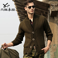 free shipping new fashion Needle men's male cotton large lapel casual cardigan knitted outerwear sweater men's clothing sweater