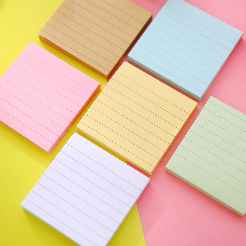DELVTCH 3pcs/set Office Stationery Sticky Notes Soild Color Memo Pad 80 Pages Sticker Post Bookmark Point It Marker Memo Paper never creative sticky notes and memo pads set post it message tag fashion color business office accessories ladies stationery