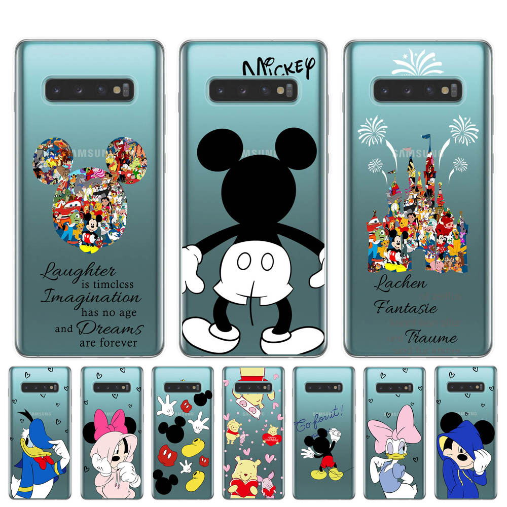 Mickey Minnie Soft TPU <font><b>Phone</b></font> <font><b>Cases</b></font> For <font><b>Samsung</b></font> Galaxy S6 <font><b>S7</b></font> <font><b>Edge</b></font> S8 S9 S10 Plus S10Lite <font><b>Case</b></font> For Coque <font><b>Samsung</b></font> M10 M20 M30 Cover image