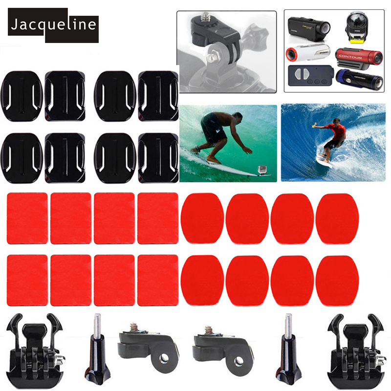 Jacqueline for Ion Air Pro Surfing 360 Degree Curved Flat mount 3M Adhesive for Sony Action Cam HDR AS200V AS100V AS20 AZ1 mini zs s3 hi quality curved surface mount pack with 3m sticker adhesive for sony fdr x1000v hdr as200v hdr as20 hdr az1vra