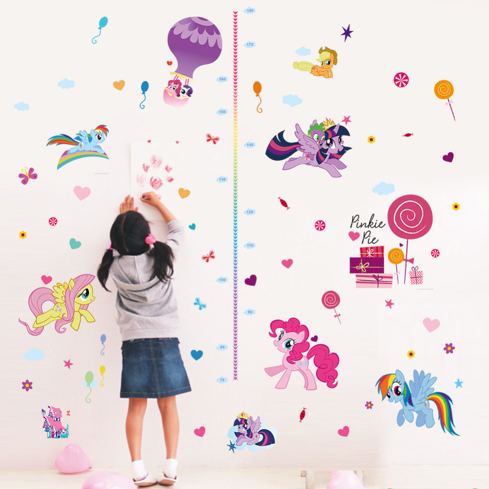 Cute colorful cartoon flying horse child baby height measure growth cute colorful cartoon flying horse child baby height measure growth chart wall sticker for kids room nursery girl bedroom art in wall stickers from home geenschuldenfo Image collections