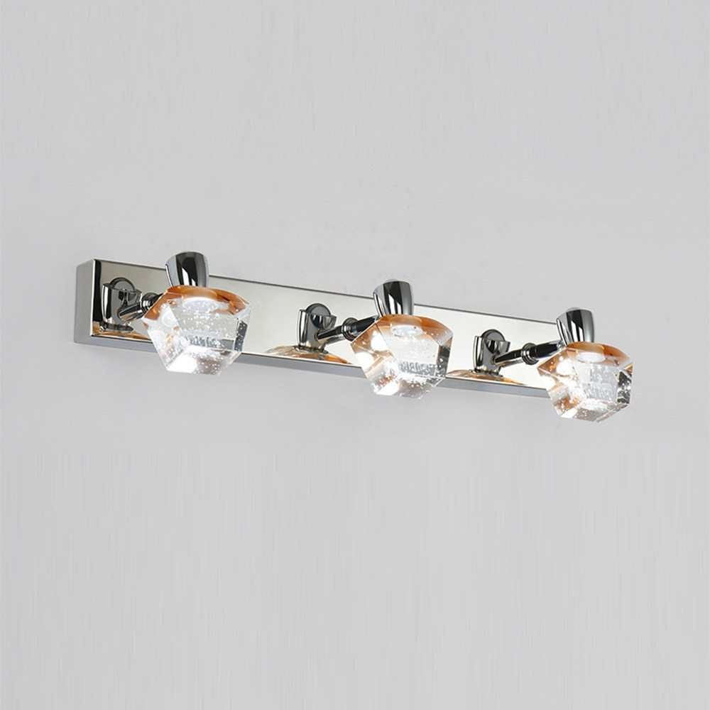 Crystal ledmirror light bubble crystal stainless steel bathroom mirror - Fashion Led Bathroom Bubble Crystal Wall Light Contemporary Mirror Front Washroom Wall Lights Lamp Dressing Table Wall Sconces In Wall Lamps From Lights