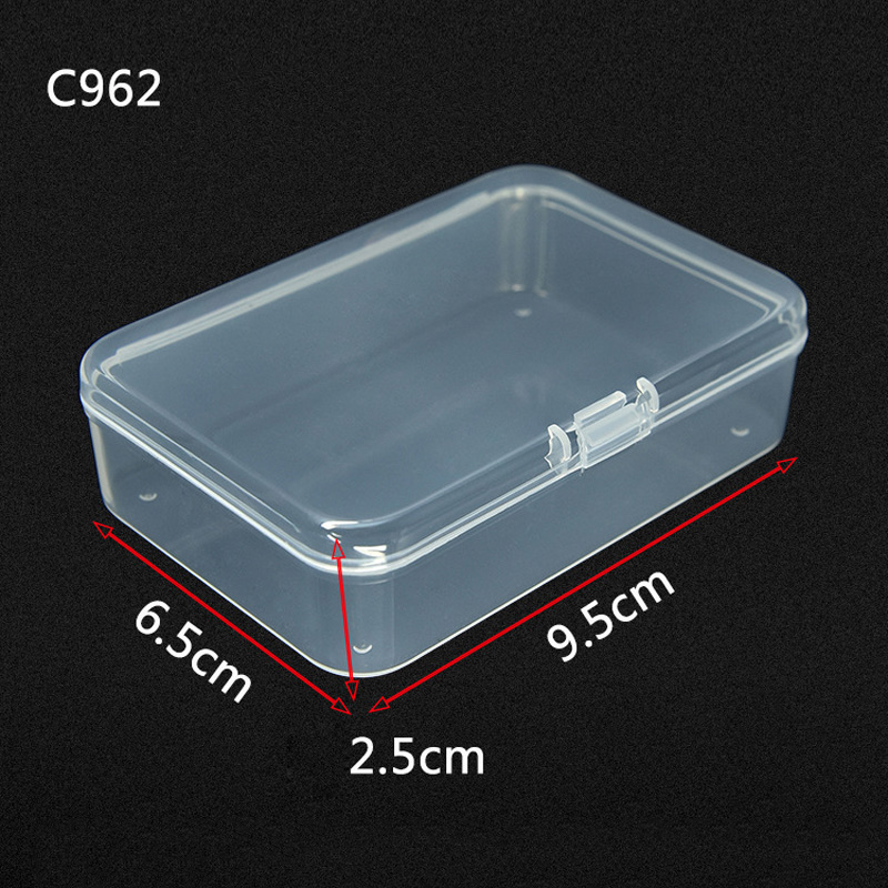1pc Clear Plastic Storage Box Playing Cards Transparent Case