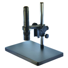 Best price Big Heavy Duty Metal Boom Stereo Microscope Camera Table Stand Holder 50mm Ring +300X Zoon C-mount Lens