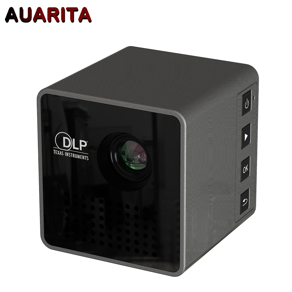 Mini DLP Projector G1 Portable 1080P HD Beamer Throw 70 inch 64G TF Slot 3 5mm