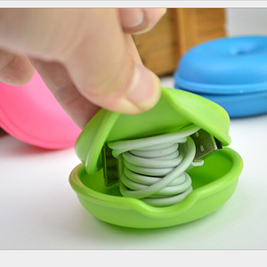 Image 3 - 6 צבעים כבל כבל ארגונית חכם צב בצורת לעטוף חוט המותח אוזניות אוזניות מחזיק מקרה TPR משלוח חינם