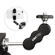 UURig R002 Aluminium Magie Arm Monitor Montieren Gelenk 1/4 Schraube Universal für Bereich Monitore LED Video Leuchten Mikrofone
