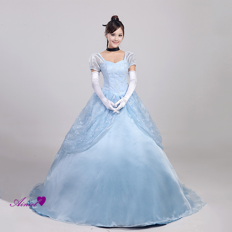 Custom made Princess Cinderella deluxe Cosplay Costume For Women and Girls  Party Prom Dress for Adult and Kids Custom Costu