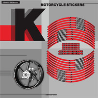 Motorcycle tyre sign decoration sticker inner rim reflective decals For HONDA CB300R