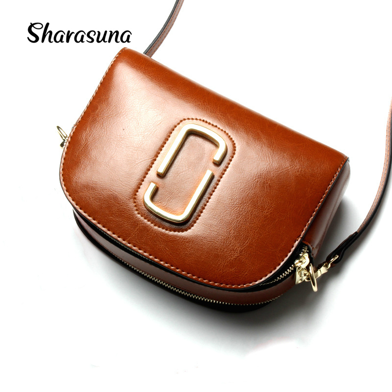 2017 New Arrival Genuine Leather Crossbody Bags Handbags Women Famous Brands Shoulder Messenger Bag Small Hand Clutch Purse Bag women shoulder bags leather handbags shell crossbody bag brand design small single messenger bolsa tote sweet fashion style