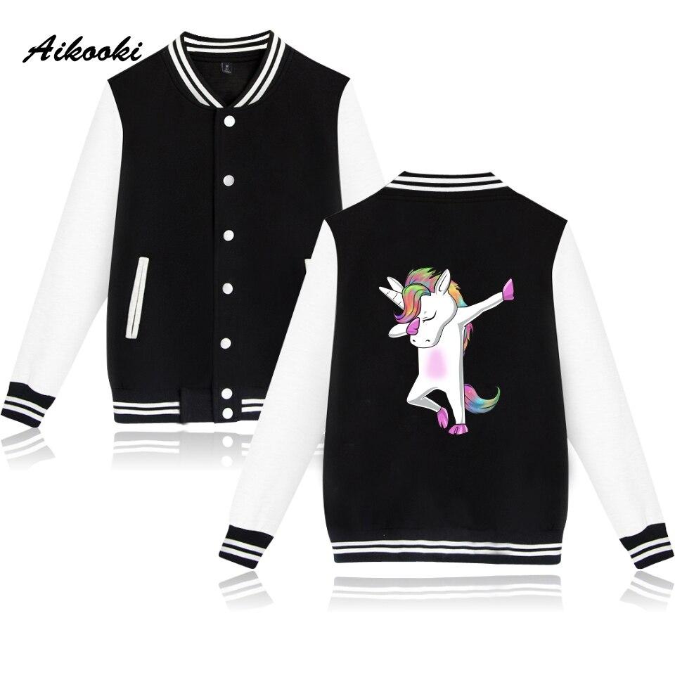 Fashion Unicorn Baseball Jacket Women College Baseball Jacket Coat Autumn Long Sleeve Spring Casual Jacket Clothes