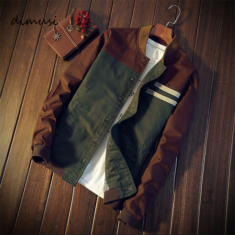 DIMUSI New Autumn Mens Bomber Jacket Fashion Male Streetwear Hip Hop Slim Pilot Coats Men Baseball Windbreaker Clothing 5XL