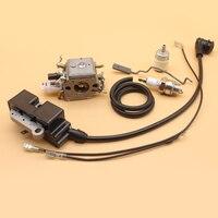 Carburetor Carb Iginition Coil Throttle Rod Fuel Hose Filter For HUSQVARNA 353 350 346 XP 345 340 Chainsaw 503283210