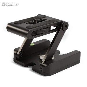 Cadiso складной алюминиевый Z Pan Flex Tilt Head штатив для камеры с шаровой головкой с QR пластиной с пузырьковым уровнем для Canon Nikon