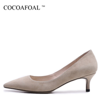 COCOAFOAL Woman Red Wedding Pumps Fashion Pointed Toe Sexy High Heels Shoes Party Shallow Apricot Blue Sheepskin Pumps 2018