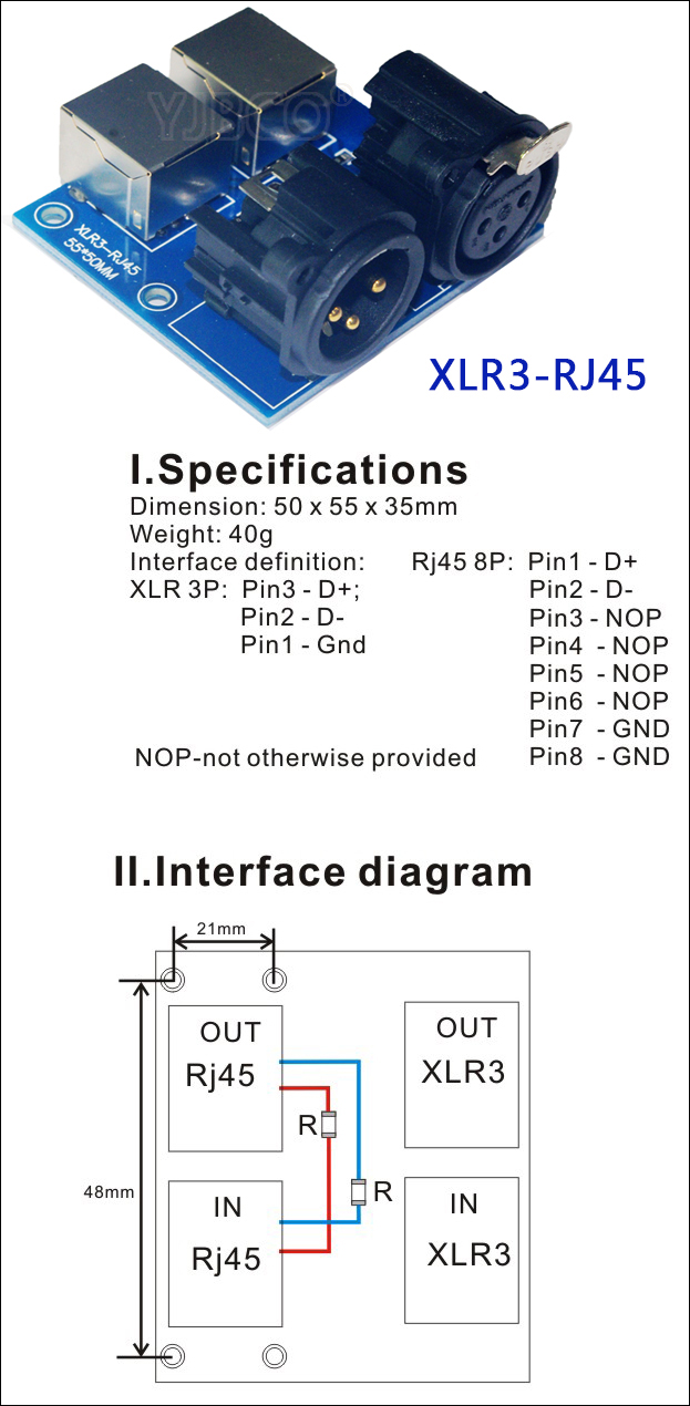 hight resolution of  xlr3 rj45