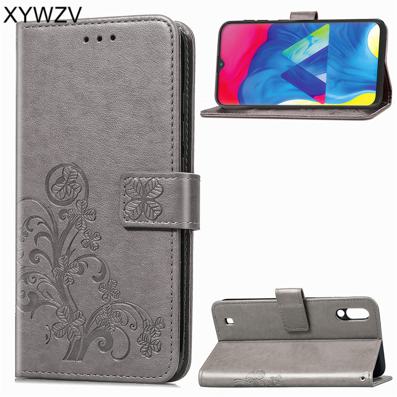 For Samsung Galaxy M10 Cover Leather PU Flip Wallet Phone Case Back Card