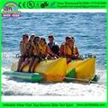 8 persona de color personalizado de doble tubo volador Inflable remolcables barco volador, caucho kayak barco de plátano inflable para parque acuático