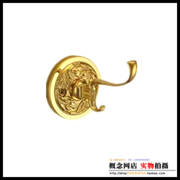 Original TAIGOOD Thickened European Antique Copper Bathroom Bath Towel Hanging Hook LU804 3G