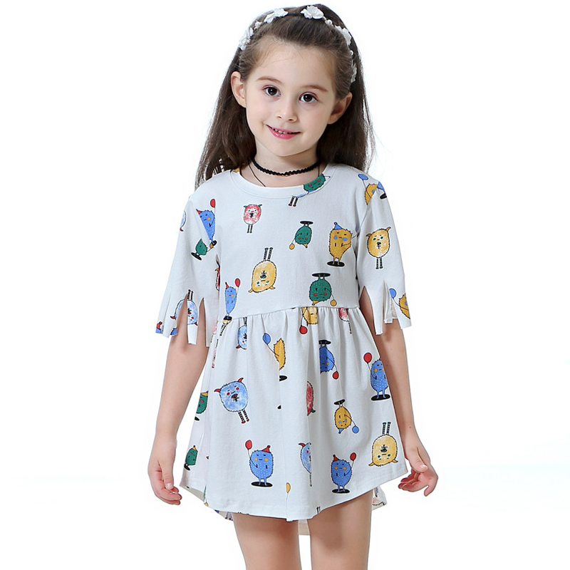 Dresses Teen Toddler Kid Girl Summer Sleeveless 3d Print Cartoon Dresses Casual Clothes Infant Toddler Kids Clothes Set Top Dress Cheap Sales 50% Mother & Kids