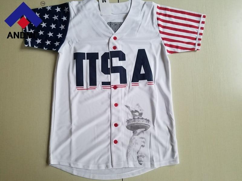 USA Baseball Jersey #45 Donald Trump Commemorative Edition Baseball Jersey Stitched White S-3XL Free Shipping baseball jersey 52 petricka petricka jake petricka jersey
