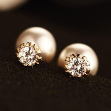 Female Earrings With Mother Zircon Womens Front Version Fashion Simulated Pearl Party Gifts For Women