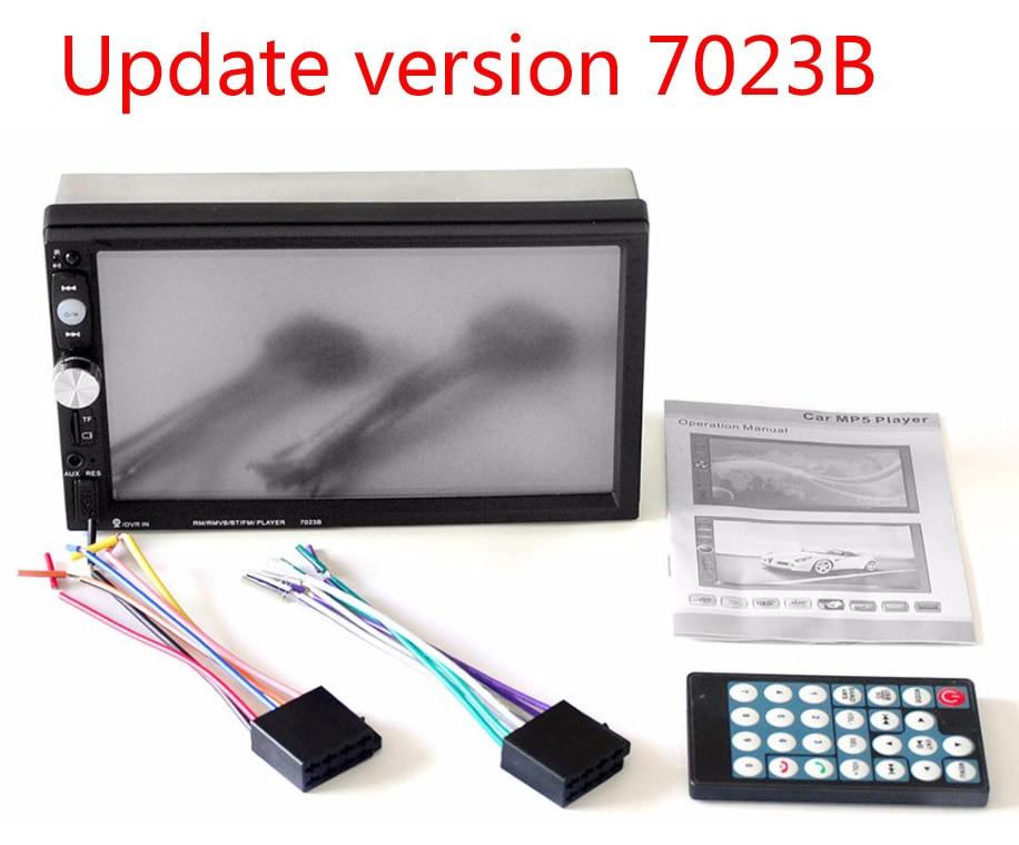 """imágenes para 7023B 7 """"2 DIN Pantalla Táctil Digital Vedio Jugador TFT 1080 P Coche Bluetooth USB de la Ayuda FM Radio Audio Reproductor MP5 Retrovisor cámara"""