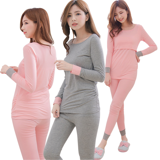 MamaLove Maternity clothes Maternity Sleepwear Breastfeeding Pajamas Nursing clothes for Pregnant Women Nursing Pajamas Sets