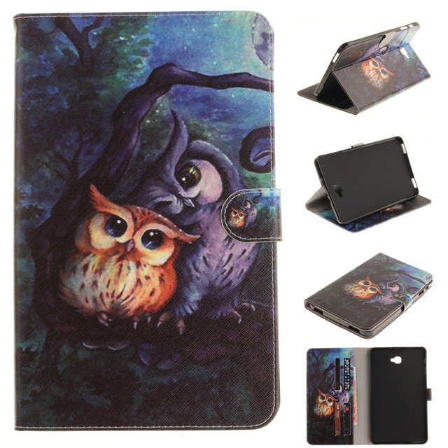 Fashion wallet PU Leather Case For Samsung Galaxy Tab A A6 10.1 2016 T580 T585 SM-T580 T580N