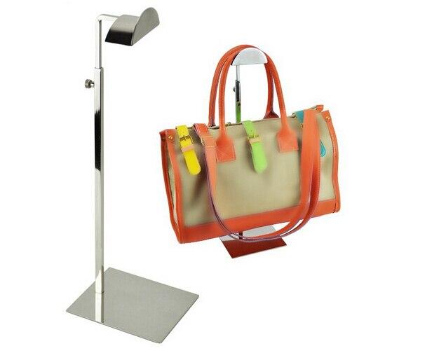 Adjustable Silver Metal Handbag Display Stand Women Handbag Bag Display Rack Handbag Stand Holder