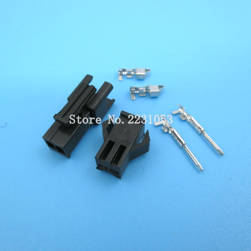 10 Sets SM-2.54mm Pitch 2p Female And Male Header Connectors Adaptor Plug SM2.54-2P SM-2P