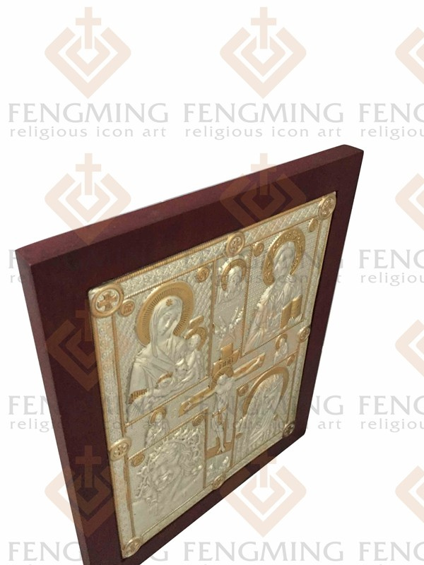 Charming Byzantine art religious art cross crucifix and four jesus - Home Decor - Photo 4