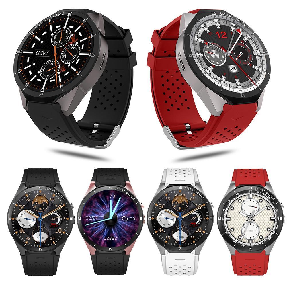 KW88 Pro 1 gb + 16 gb Smartwatch Relógio Inteligente Relógios Telefone Telefone Do Relógio relógio de Pulso do Bluetooth Android GPS Wi-fi PK LEM7 Para LEMFO
