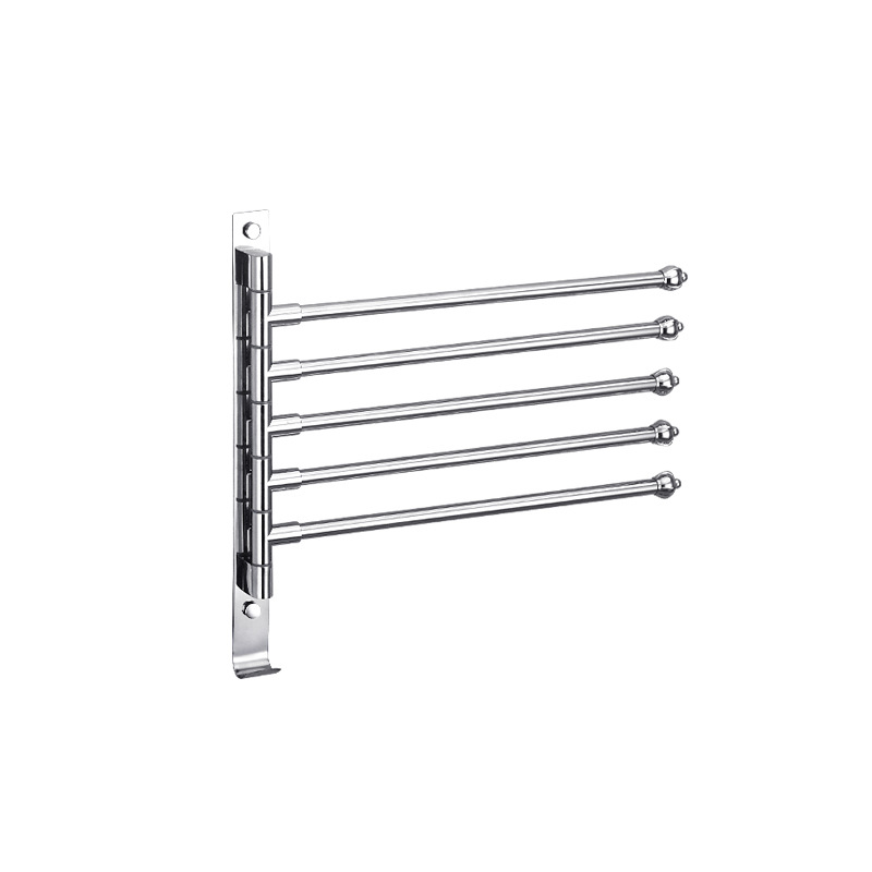 Swing Out Towel Bar 4-Bar Folding Swivel Hanger Bathroom Towel Racks NEW