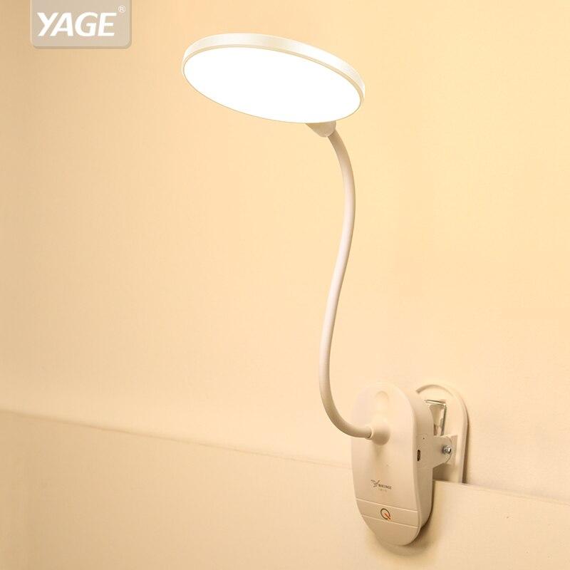 Schreibtischlampen Intellektuell Yage T101 Touch Auf/off Schalter 3 Modi Clip Schreibtisch Lampe 4000 K Augenschutz Lesen Dimmer 18650 Wiederaufladbare Usb Led Tisch Lampen Duftendes Aroma