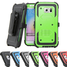 Heavy Duty Anti-Shock Future Armor Protective Case Cover+Holster With Belt Clip For Samsung Galaxy 6 Edge G925 G925F G925i