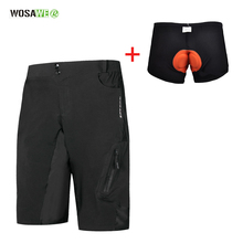 WOSAWE Summer Cycling Shorts Men Outdoor Sports MTB Riding Road Mountain Bike Short Trousers Water Repellent Baggy