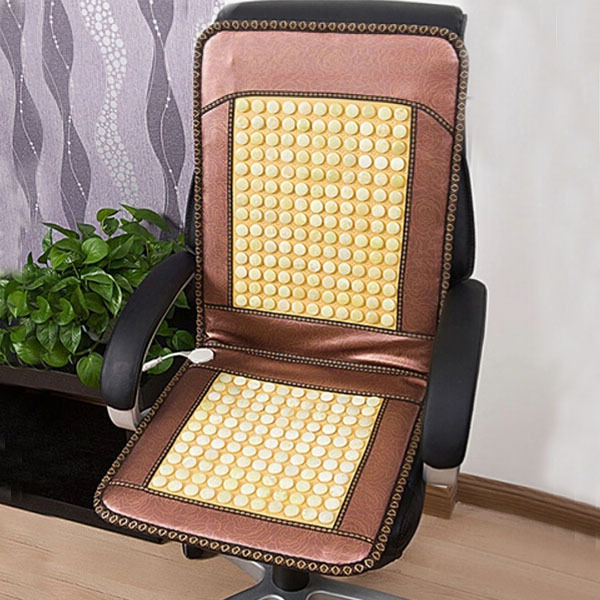 Free Shipping Heating Chair Massager Jade Ocher Mix Electric Heating Massage Chair Cushion Healthy Heating Office Chair Cushion 240337 ergonomic chair quality pu wheel household office chair computer chair 3d thick cushion high breathable mesh