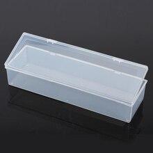 Прозрачная пластиковая длинная квадратная коробка для хранения коллекции упаковочная коробка для продуктов несессер мини Чехол Размер 25,3*8*5 см