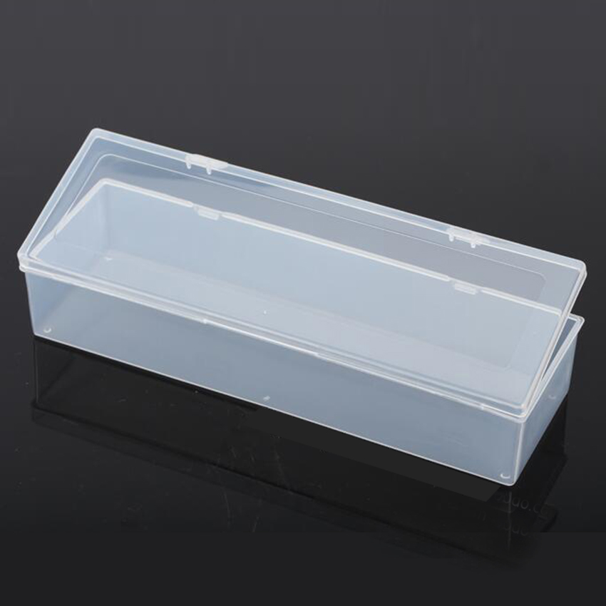 Transparent Plastic Long Square Box Storage Collections Product Packaging Box Dressing Case Mini Case Out Size 25.3*8*5cm
