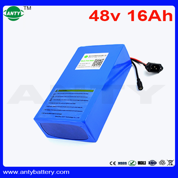Electric Bicycle Battery 48V 16Ah Built-in 30A BMS For 8fun Bafang Motor 1440W Lithium Battery 48V With 2A Charger Free Shipping free customs taxes super power 1000w 48v li ion battery pack with 30a bms 48v 15ah lithium battery pack for panasonic cell