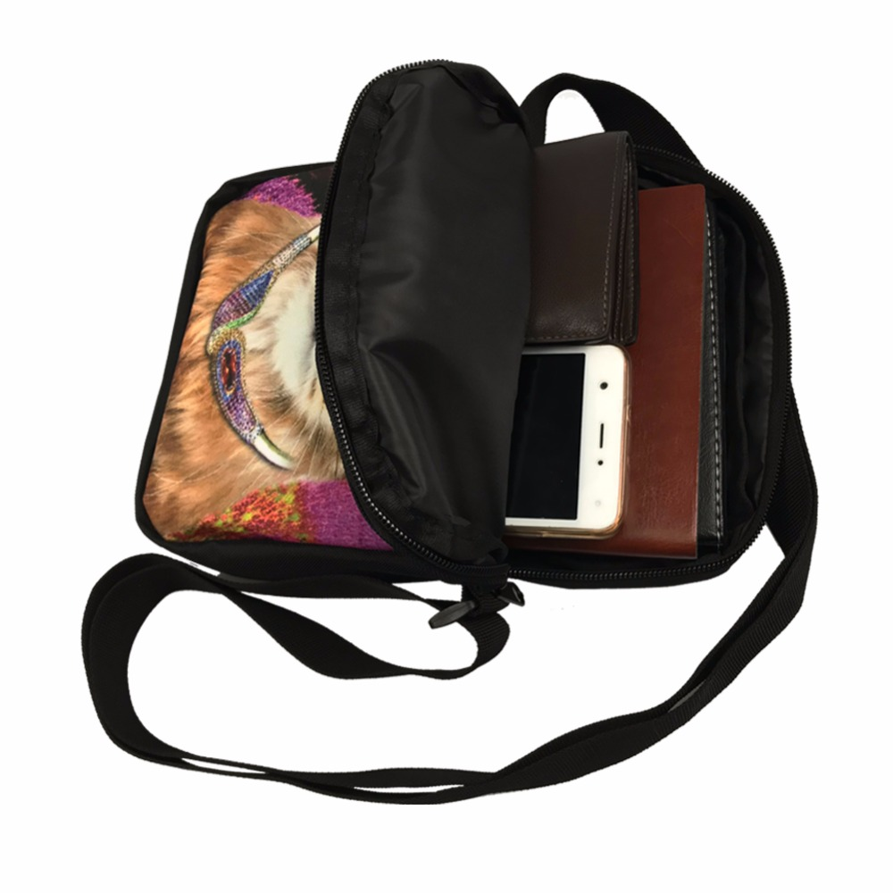 ELVISWORDS Horror Halloween Scary Clown Prints Messenger Bag Women Bucket Shoulder Bag Handbag Girls Casual Small Bolsa Feminina