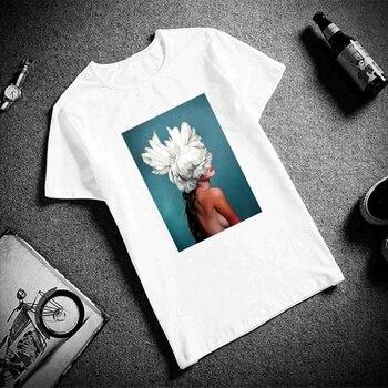 f76c52aa5514 Dreamlikelin/хлопковая футболка, сексуальные женские топы с короткими  рукавами с ...