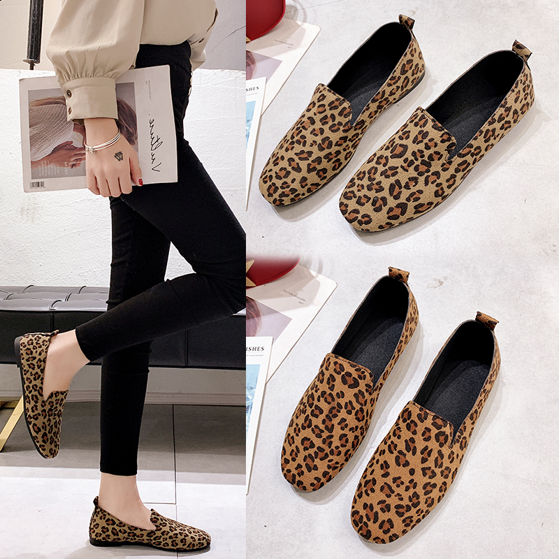 Weweya New Spring Leopard Shoes Women Flats Top Quality Flat Shoes European Style Loafers Round Toe Casual Shoes Plus Size 35-40