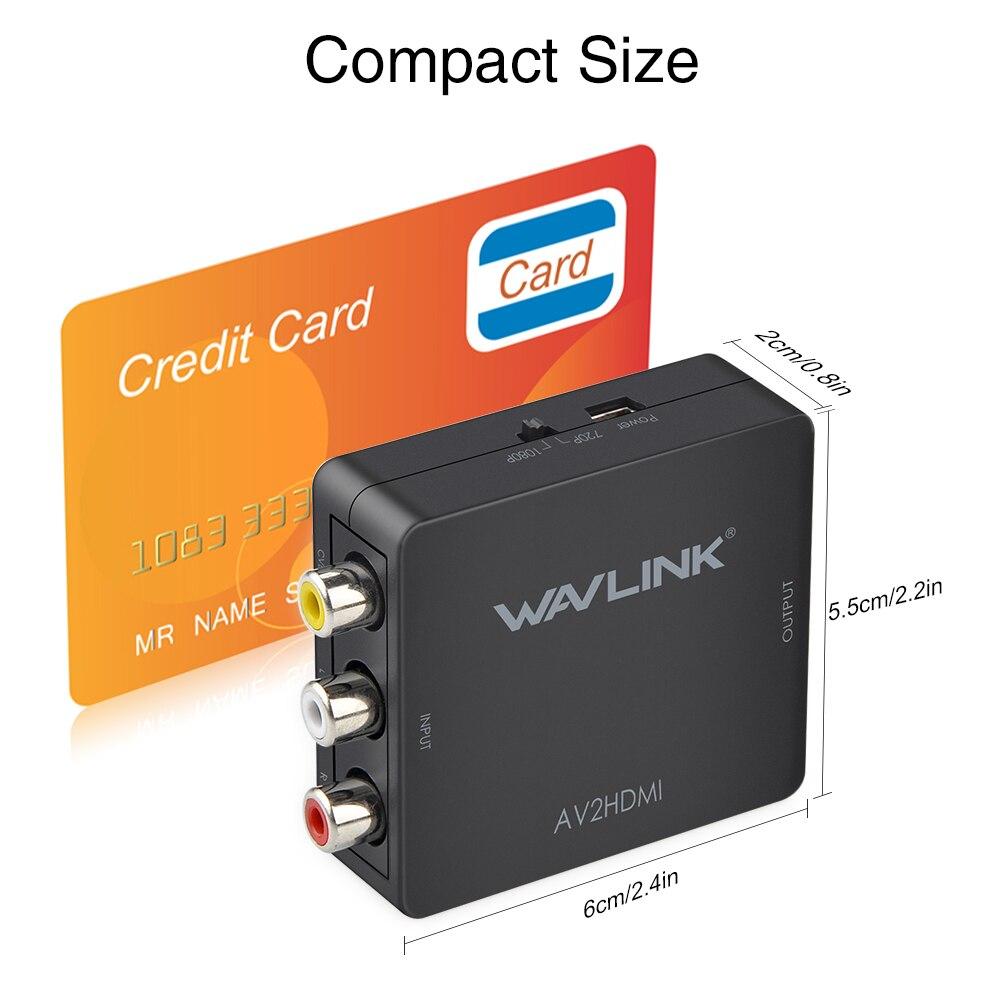 Wavlink Mini 3 RCA Μετατροπέας AV σε HDMI - Καλώδια και σύνδεσμοι υπολογιστών - Φωτογραφία 3