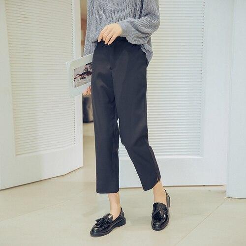 Снимать талии Высокая Талия, сторона брючин небольшой, вилка девять, прямые костюм, Повседневное брюки.