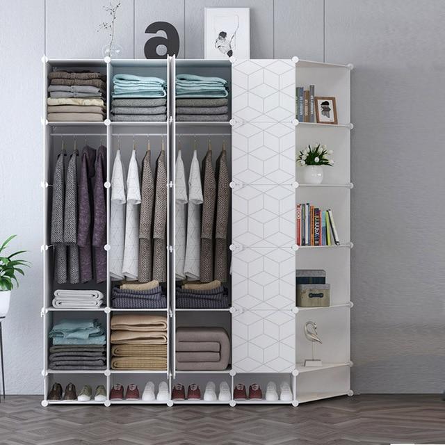 Geometric Modern Bedroom Wardrobe Skirt Dress Pant Clothing Storage Cabinet Shoe Racks Corridor Entryway Locker Home Furniture