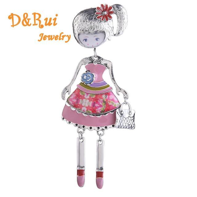 แฟชั่นเข็มกลัดเคลือบสีสันสวยงามตุ๊กตาหมุดสำหรับหญิงชุดเครื่องแต่งกายเสื้อกันหนาวกระเป๋า Lapel Pin เข็มกลัดอุปกรณ์เสริมเด็ก