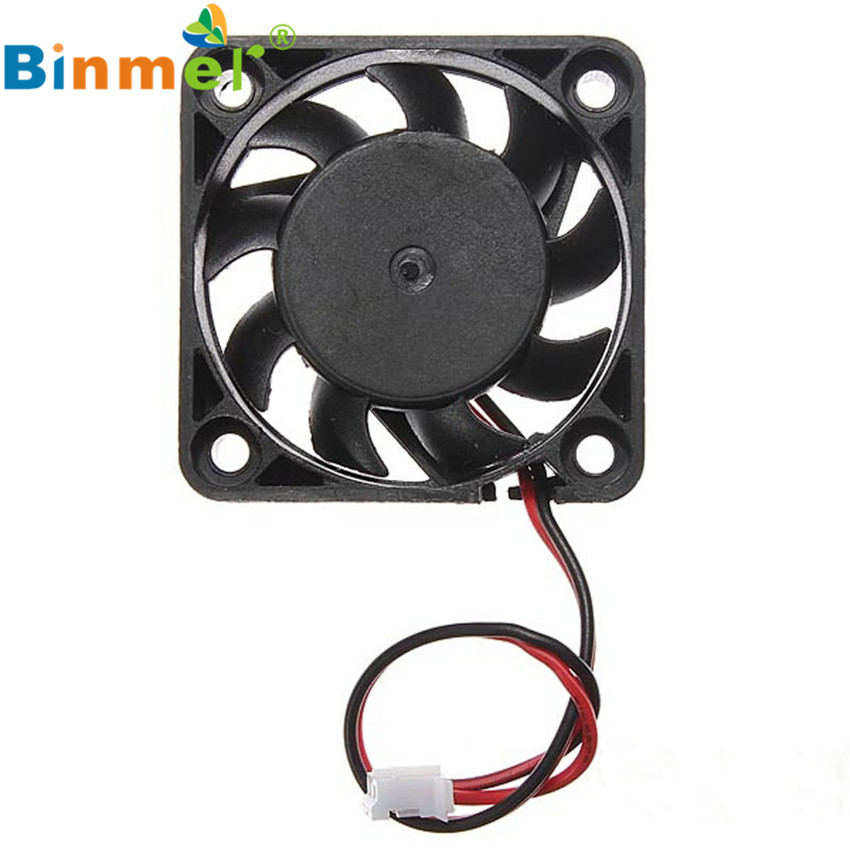 12V 2 Pin 40mm Computer Cooler Small Cooling Fan PC Black F Heat sink 75mmx30mm dc 12v 0 24a 2 pin computer pc sleeve bearing blower cooling fan 7530 r179t drop shipping