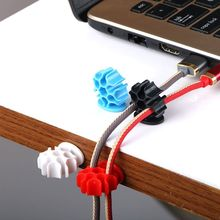 50pcs Cable Organizer USB Winder Management Clips Holder For Mouse Headphone Earphone
